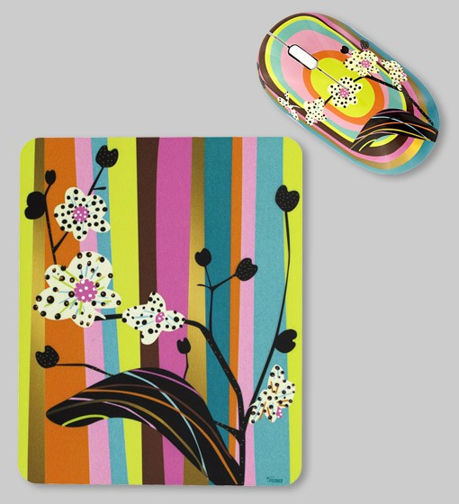 Pylones - Mouse & Mousepad - Cyber Bug - Orchid