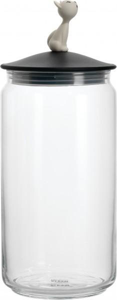 Alessi - Behälter für Katzenfutter - Vorratsdose - Miòjar black