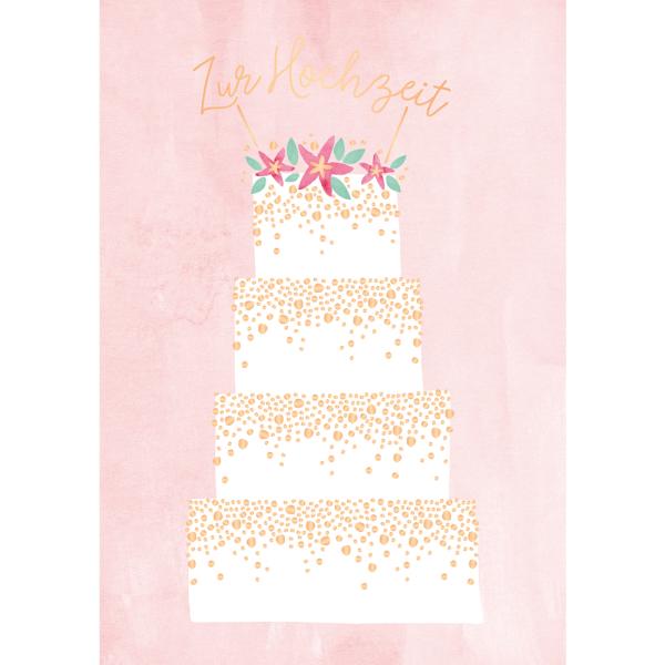 Karte Hochzeit.Maxi Card Xxl Karte Din A4 Torte Zur Hochzeit