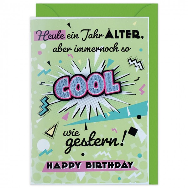 Gruss Und Co Patch Post Geburtstag Cool Die Karte Mit