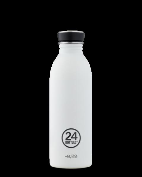 24bottles - Edelstahl-Trinkflasche 500ml - ice white weiss