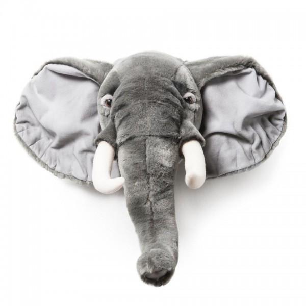 Tiertrophäe Wanddekoration - Plüsch-Trophäe Tierkopf - Elefant George