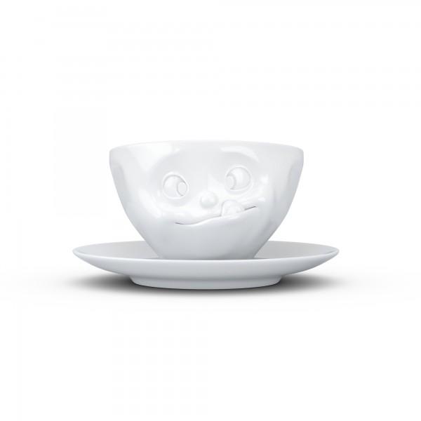 TV Tassen - Kaffeetasse mit Untertasse - lecker
