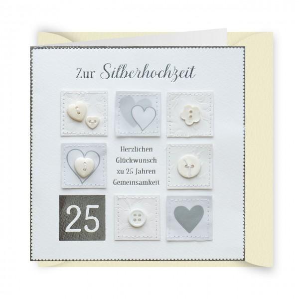 Gruss Und Co Knopfkarte Hochzeit Silberhochzeit 25 Jahre