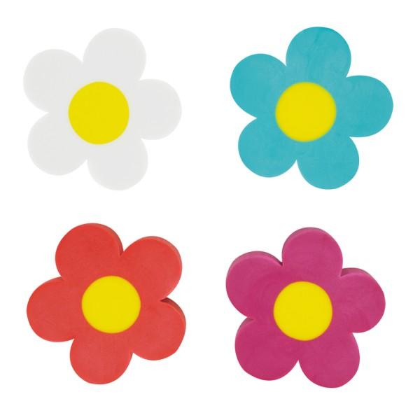Pylones - Radierer Radiergummi Blumen - Flower Rub - 4 Stück