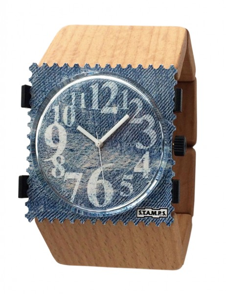 S.T.A.M.P.S. - Armband Belta Wood Beige - ohne Uhr - Stamps