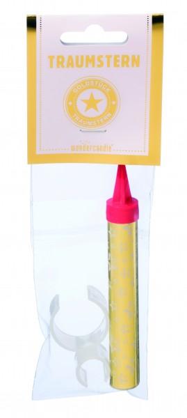 Wondercandle - Sprühfontäne mit Flaschen-Clip - Traumstern rosa