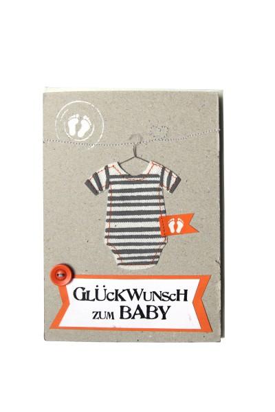 baby karte Karte   Kleines Glück Baby Karte   Glückwunsch zum Baby | Pigmento