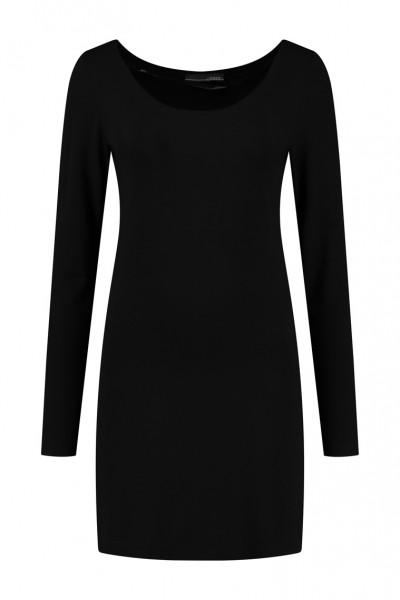 Elsewhere - Shirt Kate Basic Shirt Long - black schwarz