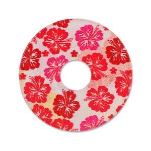 Ring Ding - Scheibe für Ringe - Acryl Dänish Art Red Flowers 28m