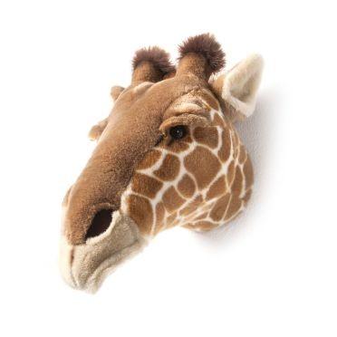 Tiertrophäe Wanddekoration - Plüsch-Trophäe Tierkopf - Giraffe Ruby