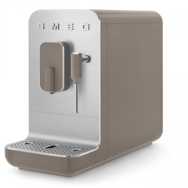 Smeg - Kaffeevollautomat Espressomaschine Milchaufschäumer 50s Style - taupe