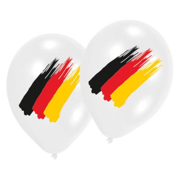 Luftballons Latexballons Deutschland Flagge Schwarz Rot Gold 6er Set