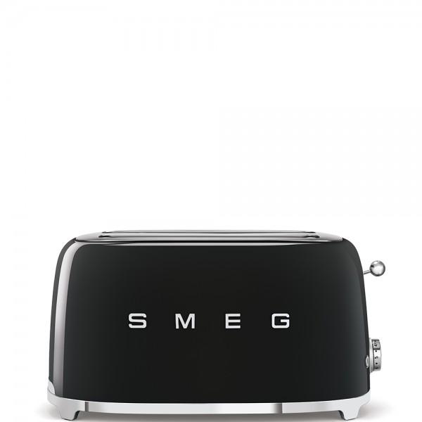 Smeg - 4 Scheiben Toaster groß - 50er-Jahre Design - 2-Schlitz lang - schwarz