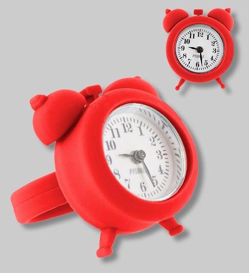 Pylones - Uhren-Ring - Ring mit Uhr - Nano Watch - rot
