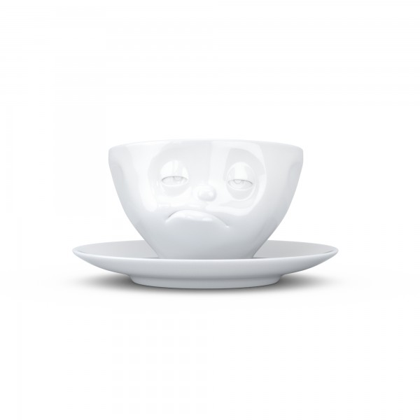 TV Tassen - Kaffeetasse mit Untertasse - verpennt
