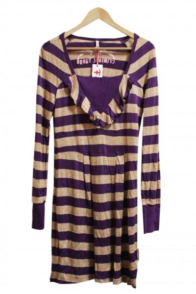 Blutsgeschwister - Straightcat Dress - Purple Stripes
