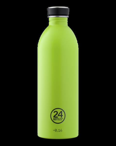 24bottles - Edelstahl-Trinkflasche 1 Liter - lime green grün