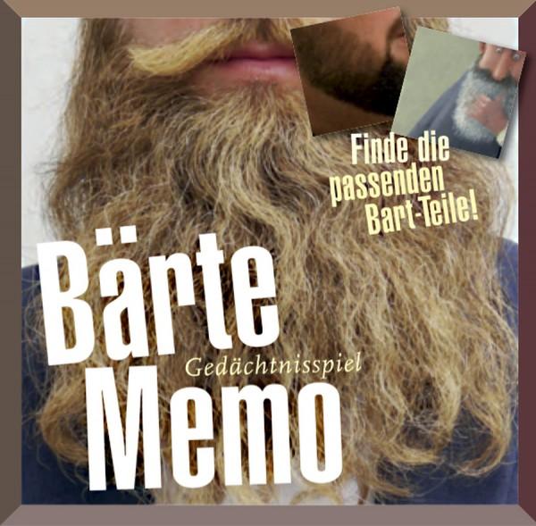 Memory - Spiel - Bärte-Memo - Finde die passenden Bart-Teile