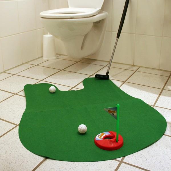 Golf-Set fürs WC - Toiletten-Spiel - Toilettengolf - Golf-Spiel