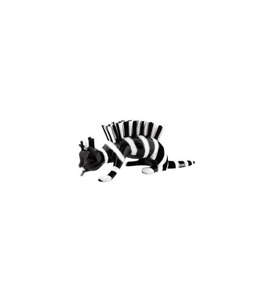 Pylones - Nagelbürste - Katze - Caty Chat - Zebra schwarz weiss