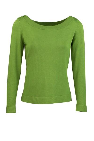 Zilch - Sweater Oberteil Langarmshirt Bambus - pesto grün