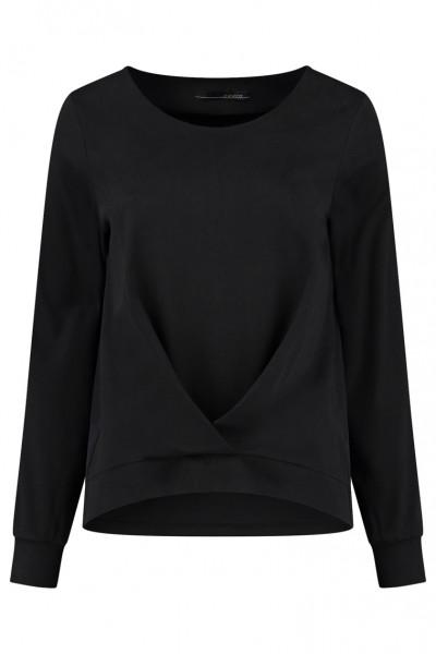 Elsewhere - Suus Top - Langarmshirt - schwarz black