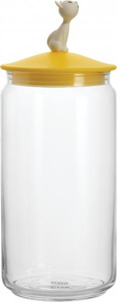 Alessi - Behälter für Katzenfutter - Vorratsdose - Miòjar - gelb
