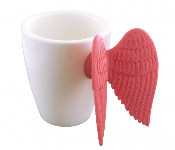 Pylones - Espressotasse mit Engelsflügel - Angel Express - pink