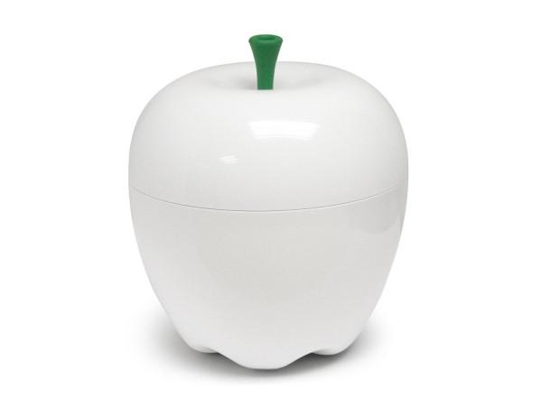 Qualy Mini Happle Container -Tischabfalleimer - Apfel Dose weiß
