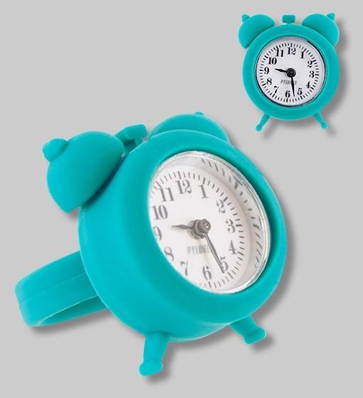 Pylones - Uhren-Ring - Ring mit Uhr - Nano Watch - türkis blau