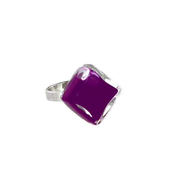 Pylones - Ring - Nano Losange Milk - Flüssigkeit dunkellila violett