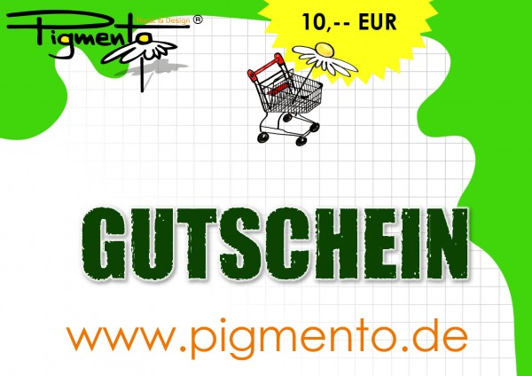 Geschenkgutschein pigmento.de - 10 Euro