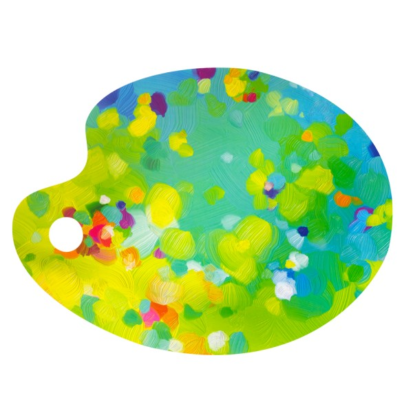 Pylones - Tischset Malerpalette - Epreuve dArtiste - grün