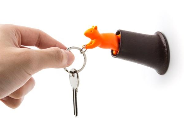 Qualy - Schlüsselanhänger - Squirrel Key Ring - braun/orange