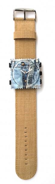 S.T.A.M.P.S. - Armband Denim Beige - ohne Uhr - Stamps