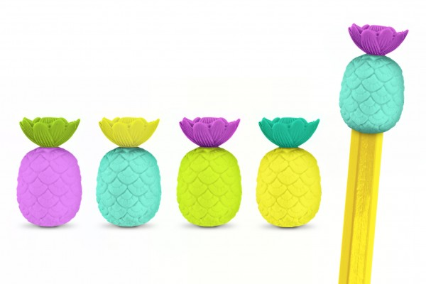 Radiergummis im Ananas-Design - Totally Tropical - 10 Stück