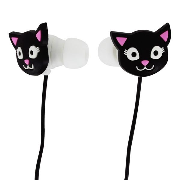 Pylones - Kopfhörer mit Mikrofon - Swing - Black Cat Katze
