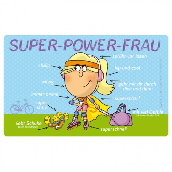 Frühstücksbrettchen - Super Power Frau