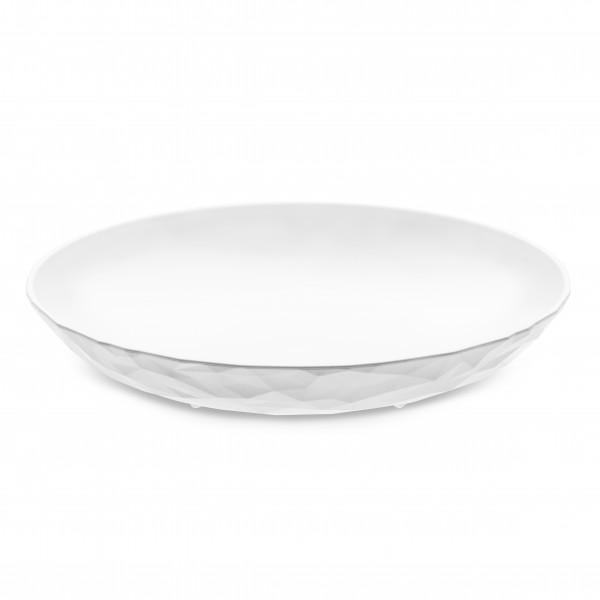 Koziol - Tiefer Kunststoff-Teller - Club Plate M - cotton white weiss