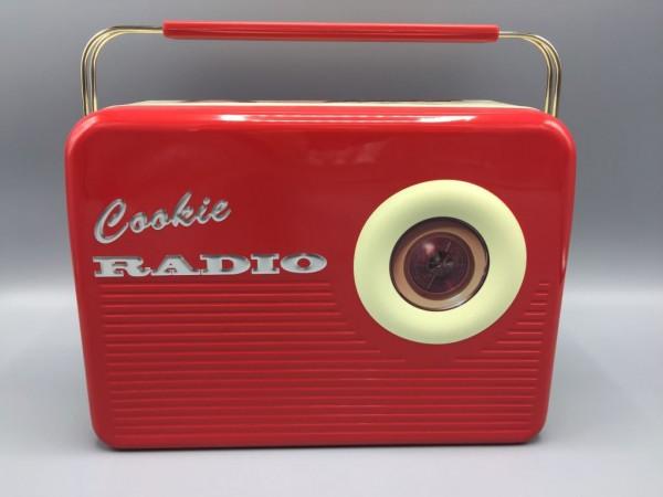 Blechdose - Geschenkbox Keksdose Radio - Cookie Radio rot