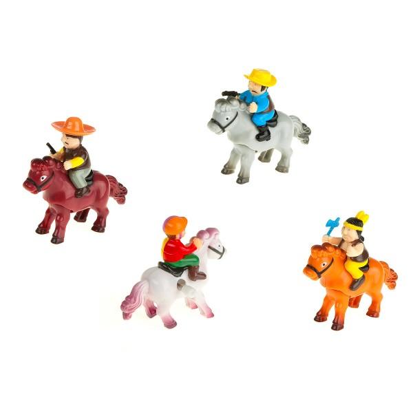 Aufziehfiguren - Sattelfest - Reiter zum Aufziehen