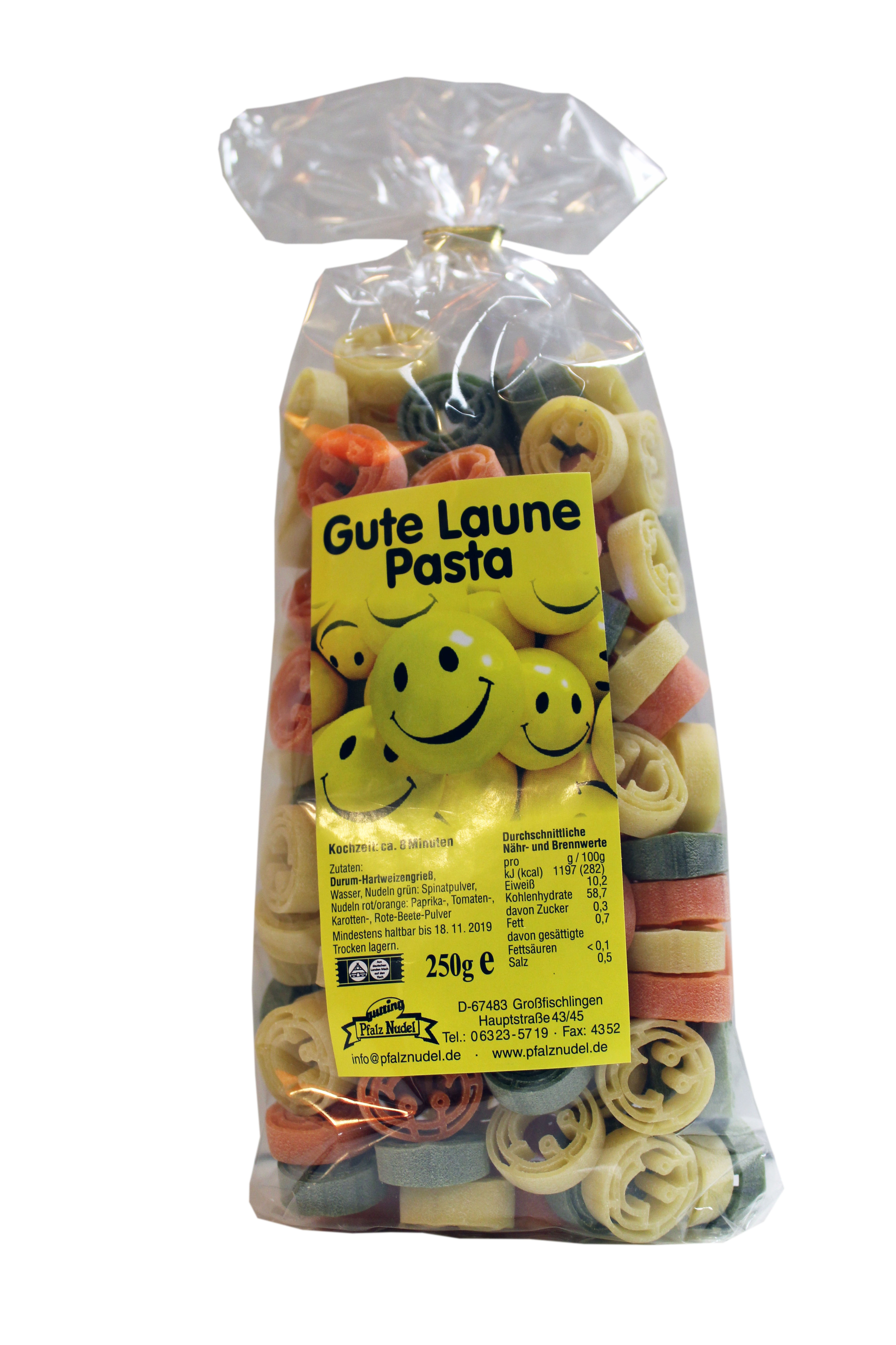 Nudeln mit Motiv - Gute Laune Pasta - Smileys lachende Gesichter ...