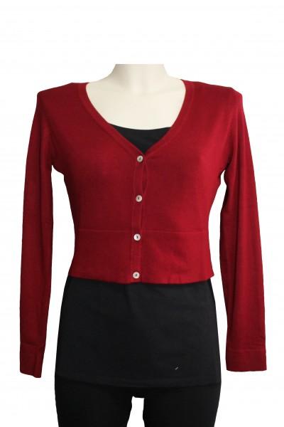 hot sale online 8abd2 d0497 Zilch - Bolero Jacke Weste Cardigan - Lipstick Red Dunkelrot
