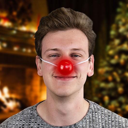 Leuchtende Rentier-Nase Rudolph - Festive Reindeer Nose