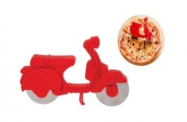 Pizzaschneider Pizzaroller - Motorroller Vespa - Pizza Scooter