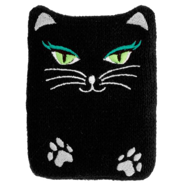 Pylones - Handwärmer Taschenwärmer Warmly - Black Cat Katze