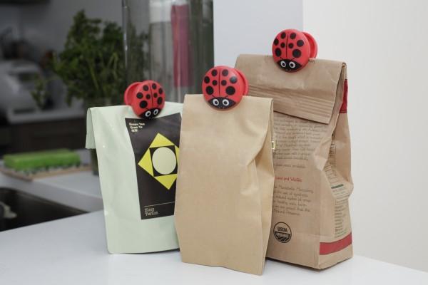 Kikkerland - Tütenclips Verschluss Marienkäfer Bag Clips Ladybug