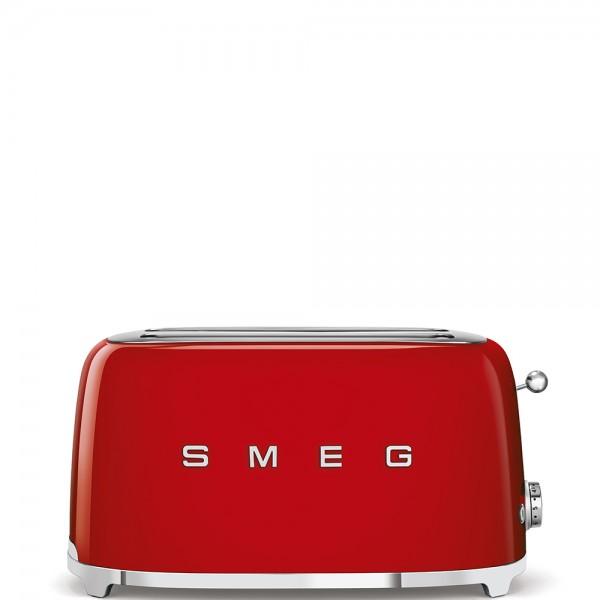 Smeg - 4 Scheiben Toaster groß - 50er-Jahre Design - 2-Schlitz lang - rot