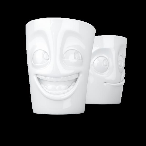 TV Tassen - Becher-Set - witzig & lecker - aus Porzellan